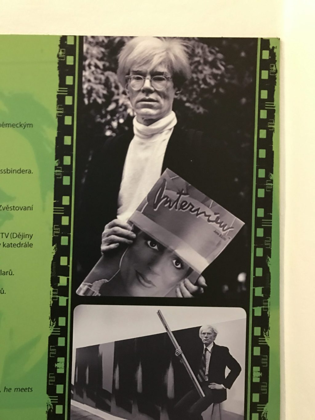 Poster of Andy Warhol Holding a Copy of Interview Magazine Which He Founded in 1969 With John Wilcock.