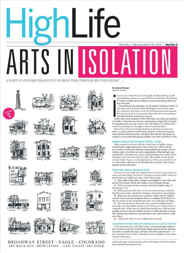 Article I Wrote on Arts In Isolation- Get Creative During Quarantine