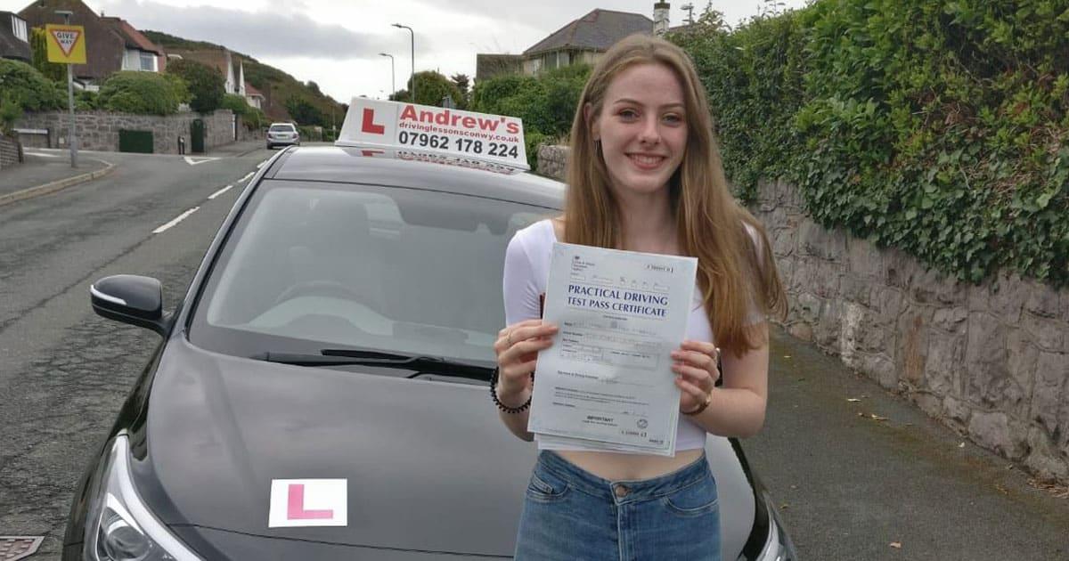 Isabel from Llandudno  Andrews Driving