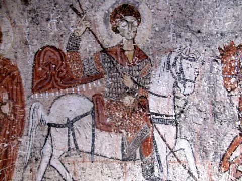 Turkey Cappadocia St George Church Painting