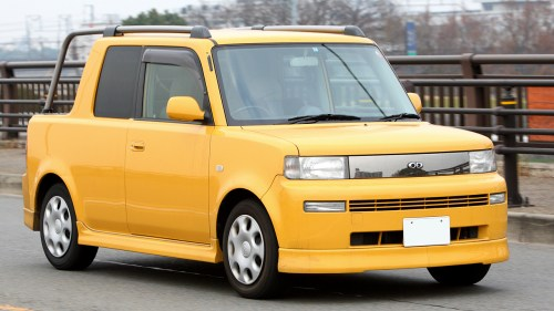 small resolution of picture of the front view of a yellow toyota bb open deck