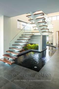 Interior image of award winning waterfront home