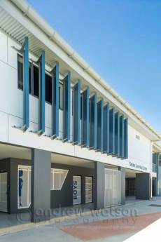 Image of screens in architectural design of Cairns school