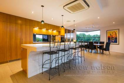 Image of kitchen and dining areas in residential home