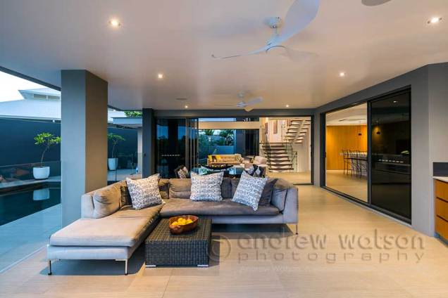 Exterior image of waterfront home and pool in Bluewater, Cairns