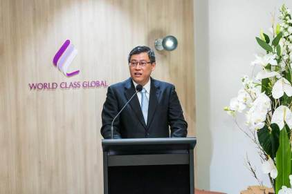 Image of David Ng speaking at Nova City Cairns Launch
