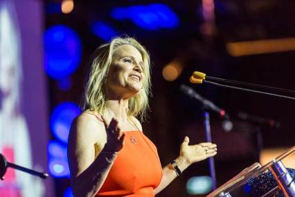 Image of Shaynna Blaze speaking at Forty Winks National Conference Gala Dinner
