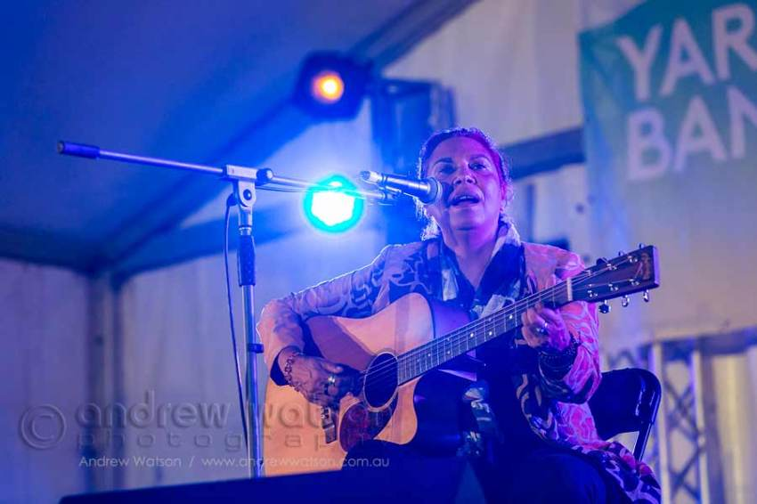 Image of Shellie Morris performing at Yarrabah Band Festival