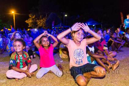Image of kids at the Yarrabah Band Festival