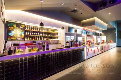 Image of cinema bar and candy bar at Smithfield Shopping Centre