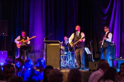 Image of Tony George Entertainment performing at dinner reception during ANZA 2017
