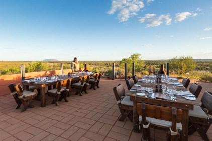 Image of Uluru outdoor restaurant table settings