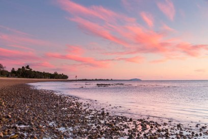 Image of sunrise along Clairview Beach, Mackay