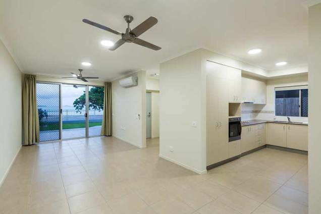 Image of living room and kitchen areas in a unit housing development, Thursday Island