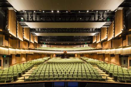 Interior of main theatre of Cairns Performing Arts Centre without people