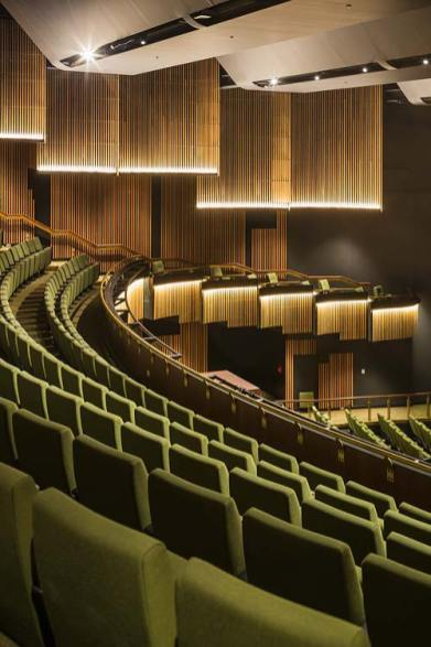 Balcony seating in the main theatre of Cairns Performing Arts Centre