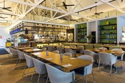 Restaurant interior at Port Douglas resort