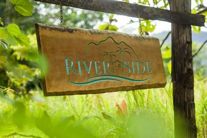Sign welcoming visitors to Riverside Daintree - a holiday cottage in the Daintree region
