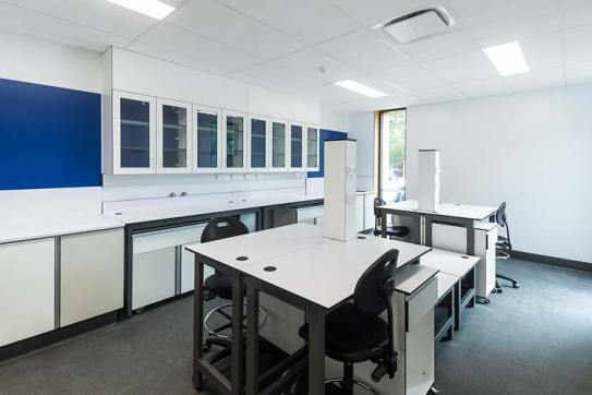 Interior of the Cairns Water Laboratory showing a research and testing area
