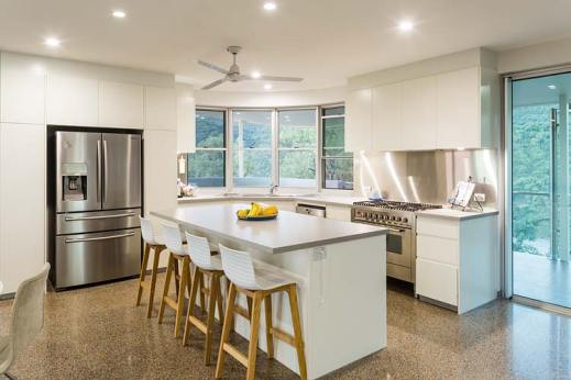Interior of the Walsh River House showing contemporary kitchen