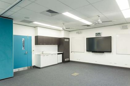 Interior of the Gordonvale Fire Station showing staff office area