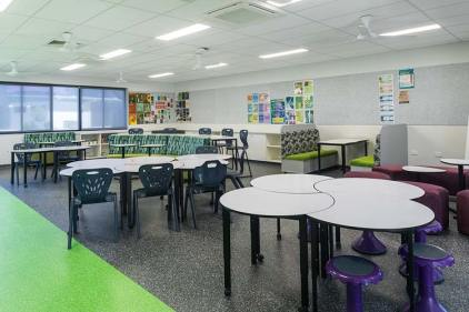Interior of new general learning area classroom