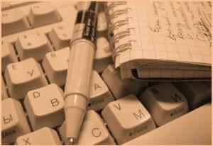 Писать статью на компьютере
