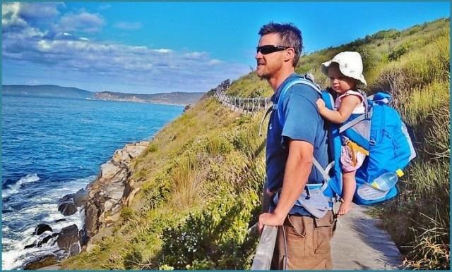Фото с папой и дочкой на море