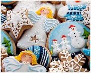 Красивое рождественское печенье