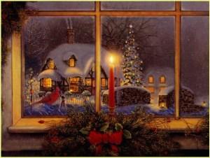 Рождественская ёлка во дворе