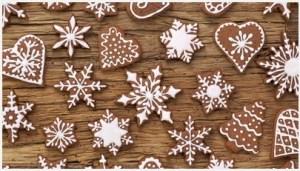 рождественское печенье снежинки