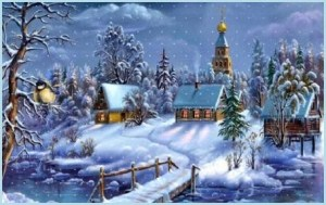 Картинка Рождество в деревне