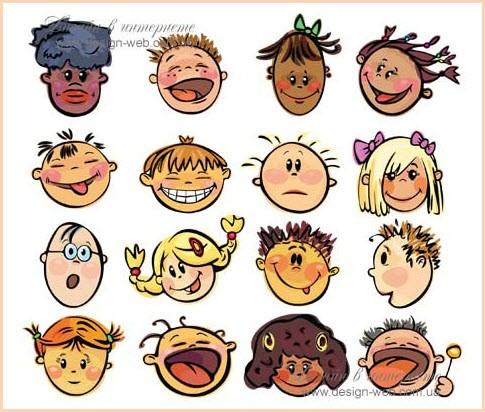 рисунки смешных детских рожиц