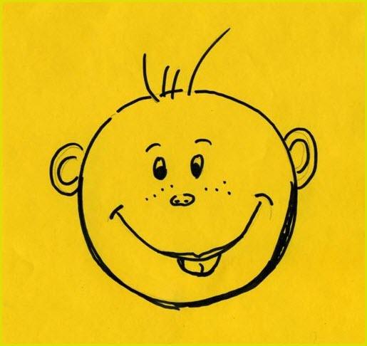 Смешные рисунки детских рожицы