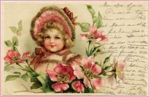 Девочка и цветы