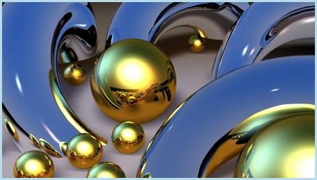 абстрактная картинка с шарами