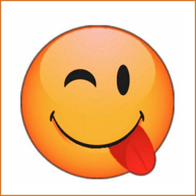 Смайлик показывает язык