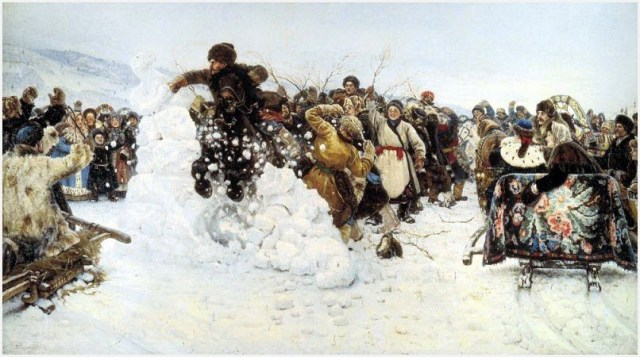 Взятие снежного городка картина