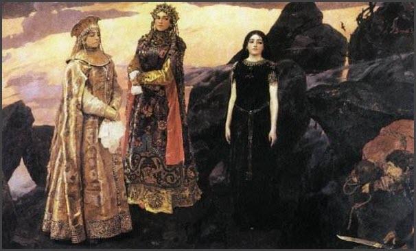 Три царевны картина