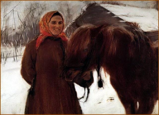 Баба с лошадью