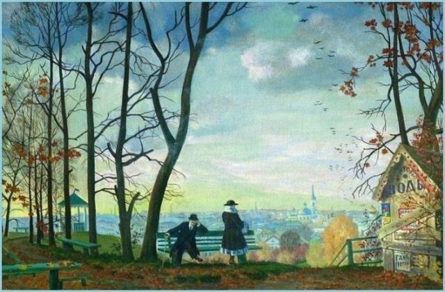 Вид с Воробьёвых гор картина
