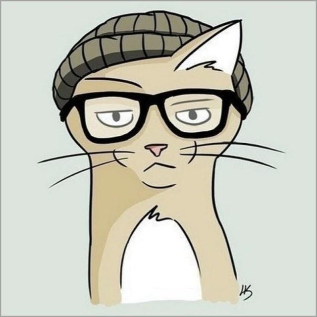 Кот в очках картинка