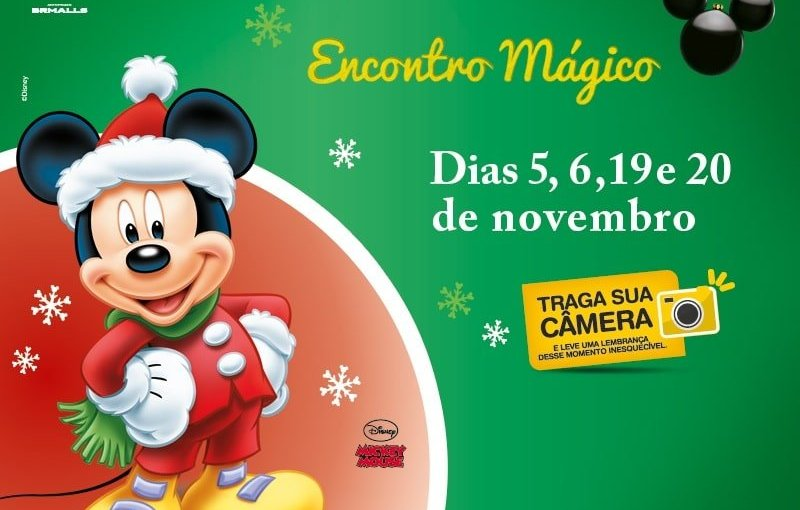 Natal com personagens Disney no Shopping Tijuca