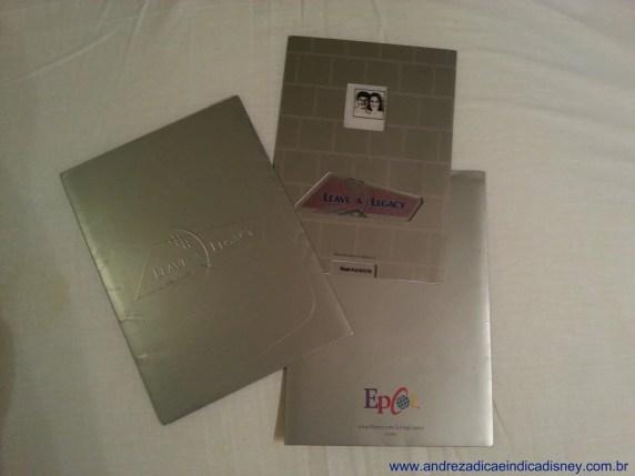Leave a Legacy folder, Epcot, Disney