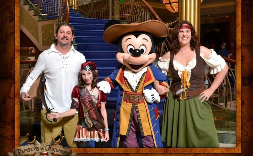 Noite dos piratas no cruzeiro Disney