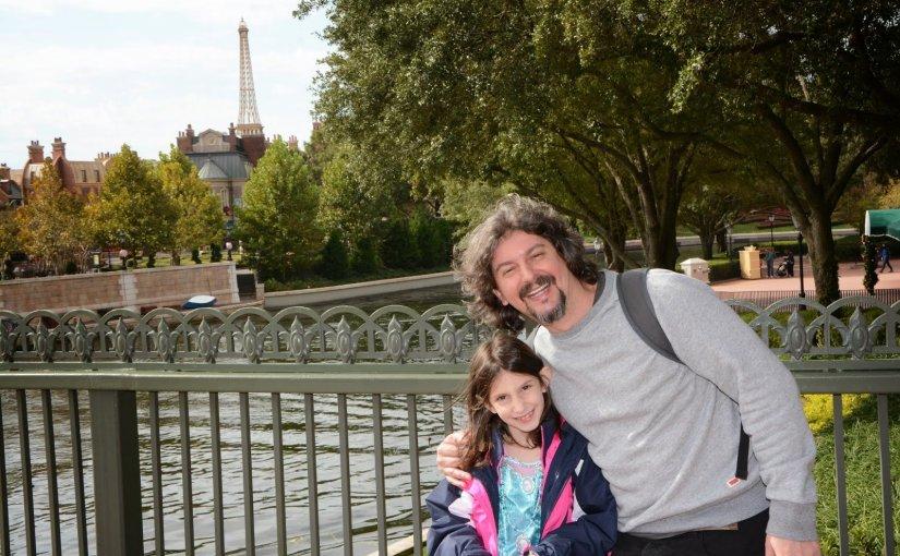 """Um pai """"solteiro"""" na Disney"""
