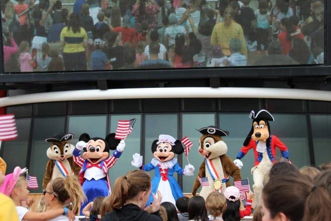 4 de julho nos navios Disney