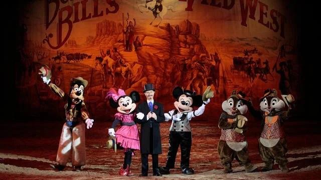 Show cowboy do Buffalo Bill na Disneyland Paris