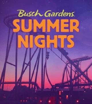 Summer Nights: Programação de verão no Busch Gardens