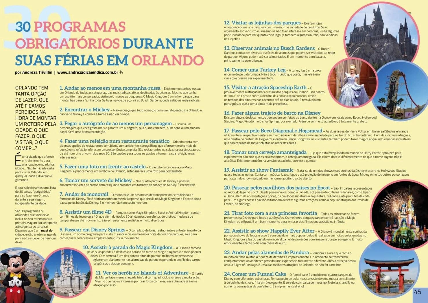30 programas obrigatórios durante as férias em Orlando   Andreza ... 48d8367fdd
